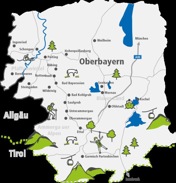 Karte Oberbayern.Königscard Einfach Ausprobieren Region